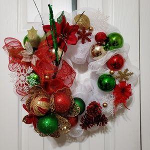 "Other - 17"" Christmas Holiday Mesh Wreath"